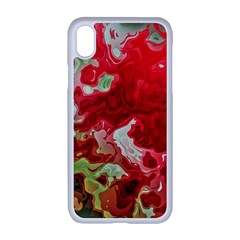 Abstract Stain Red Seamless Iphone Xr Seamless Case (white)