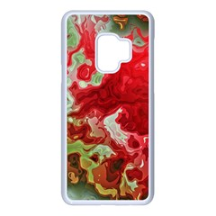 Abstract Stain Red Seamless Samsung Galaxy S9 Seamless Case(white)