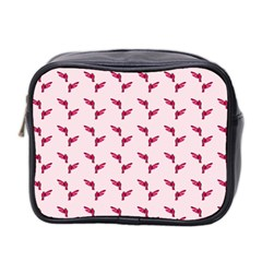 Pink Parrot Pattern Mini Toiletries Bag (two Sides)