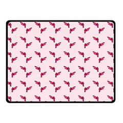 Pink Parrot Pattern Double Sided Fleece Blanket (small)