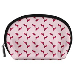 Pink Parrot Pattern Accessory Pouch (large)