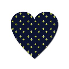 Peeled Banana On Blue Heart Magnet by snowwhitegirl