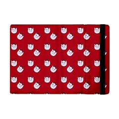 Lazy Bat One Red Pattern Apple Ipad Mini Flip Case by snowwhitegirl