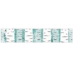 Birch Tree Background Snow Large Flano Scarf