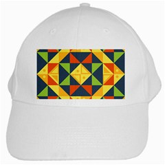 Background Geometric Color Plaid White Cap by Mariart