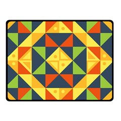Background Geometric Color Plaid Double Sided Fleece Blanket (small)