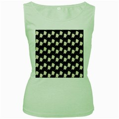 Beanie Boy Pattern Women s Green Tank Top by snowwhitegirl