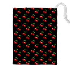 Retro Black Cherries Drawstring Pouch (xxxl)