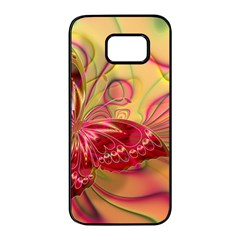 Arrangement Butterfly Pink Samsung Galaxy S7 Edge Black Seamless Case by HermanTelo
