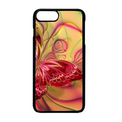 Arrangement Butterfly Pink Iphone 8 Plus Seamless Case (black)