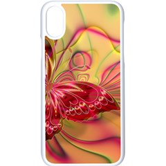 Arrangement Butterfly Pink Iphone X Seamless Case (white)