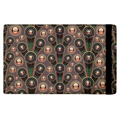 Abstract Pattern Green Apple Ipad 2 Flip Case by HermanTelo