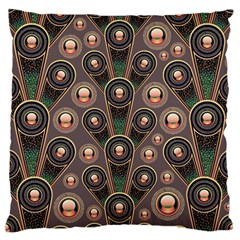 Abstract Pattern Green Large Flano Cushion Case (two Sides)