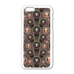 Abstract Pattern Green Iphone 6/6s White Enamel Case by HermanTelo