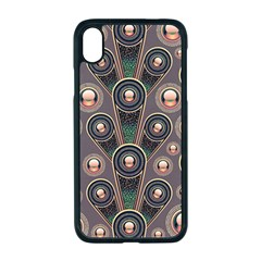 Abstract Pattern Green Iphone Xr Seamless Case (black)