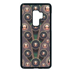 Abstract Pattern Green Samsung Galaxy S9 Plus Seamless Case(black) by HermanTelo
