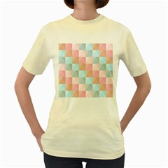 Background Pastel Women s Yellow T Shirt by HermanTelo