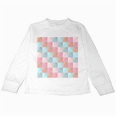 Background Pastel Kids Long Sleeve T Shirts by HermanTelo