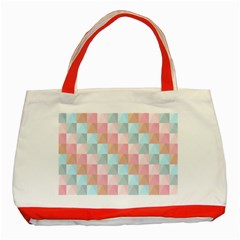 Background Pastel Classic Tote Bag (red) by HermanTelo