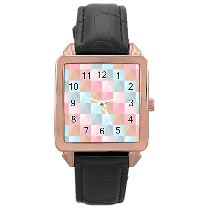 Background Pastel Rose Gold Leather Watch