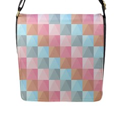 Background Pastel Flap Closure Messenger Bag (l) by HermanTelo