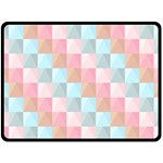Background Pastel Double Sided Fleece Blanket (Large)  80 x60  Blanket Front
