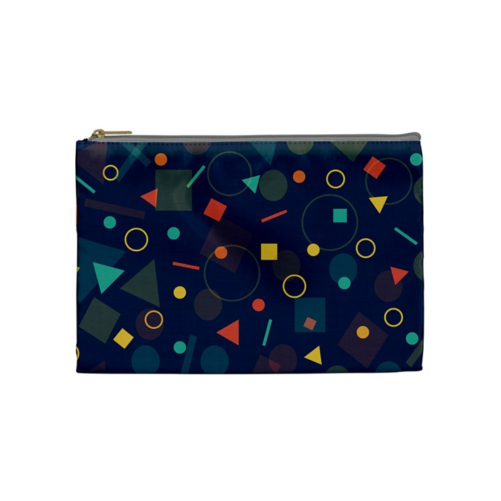 Background Geometric Cosmetic Bag (Medium)
