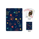 Background Geometric Playing Cards (Mini) Back