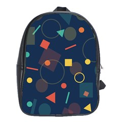 Background Geometric School Bag (xl)