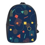 Background Geometric School Bag (XL) Front