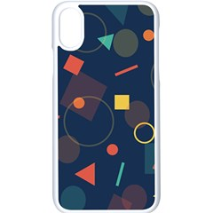 Background Geometric Iphone X Seamless Case (white)