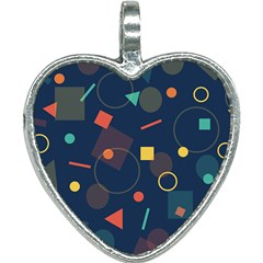 Background Geometric Heart Necklace