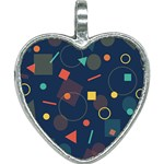 Background Geometric Heart Necklace Front