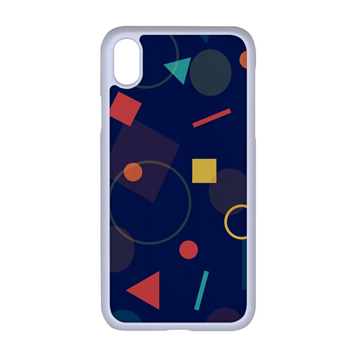 Background Geometric iPhone XR Seamless Case (White)