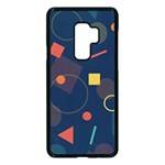 Background Geometric Samsung Galaxy S9 Plus Seamless Case(Black) Front