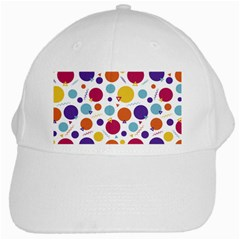 Background Polka Dot White Cap