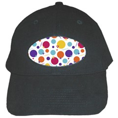Background Polka Dot Black Cap