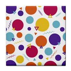 Background Polka Dot Tile Coasters