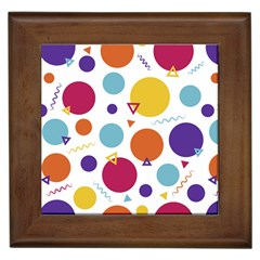 Background Polka Dot Framed Tiles