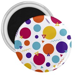 Background Polka Dot 3  Magnets