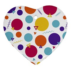 Background Polka Dot Ornament (Heart)