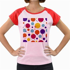 Background Polka Dot Women s Cap Sleeve T-Shirt