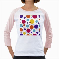 Background Polka Dot Girly Raglan