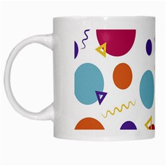 Background Polka Dot White Mugs
