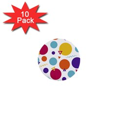 Background Polka Dot 1  Mini Buttons (10 pack)