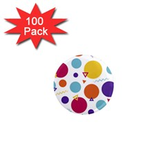 Background Polka Dot 1  Mini Magnets (100 pack)