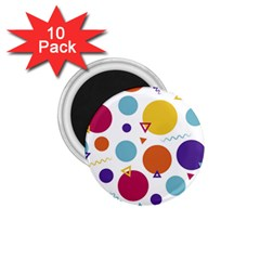 Background Polka Dot 1.75  Magnets (10 pack)