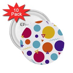 Background Polka Dot 2.25  Buttons (10 pack)