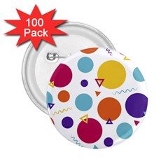 Background Polka Dot 2.25  Buttons (100 pack)