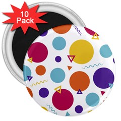 Background Polka Dot 3  Magnets (10 pack)
